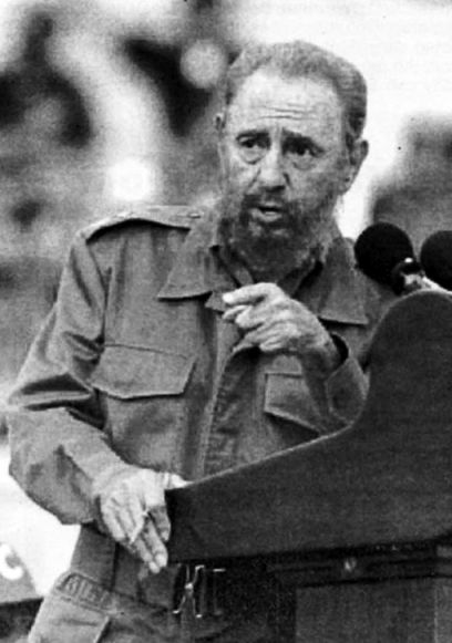 Fidel Castro speaking May Day