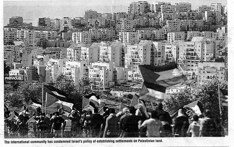 Zionist land grab used for settlements